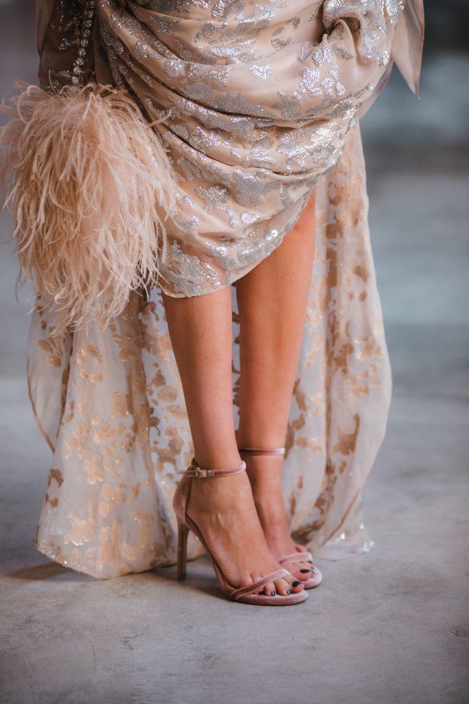 sandalias terciopelo novia invitada
