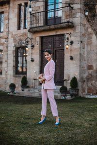 invitada perfecta traje rosa