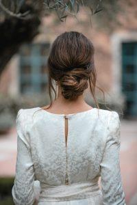 recogido invitada diadema novia boda