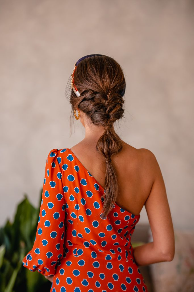 peinado trenza novia invitada