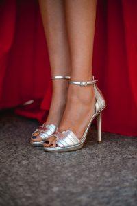 sandalias plata comodas invitada novia