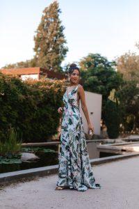 vestido estampado invitada perfecta