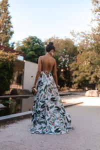 vestido invitada estamapado