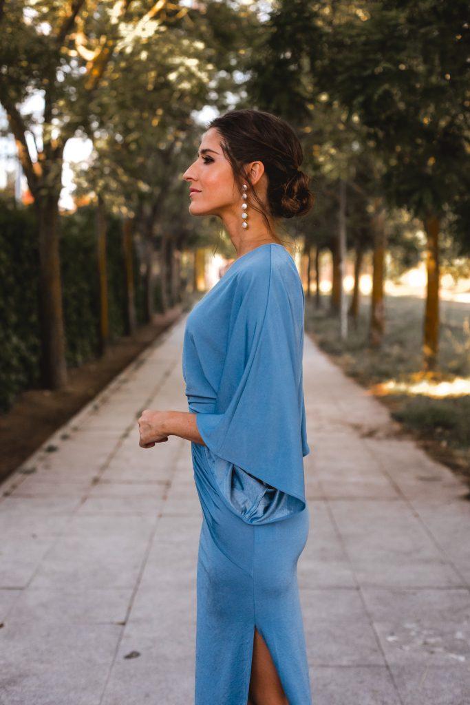 vestido largo azul invitada boda