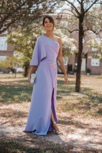 vestido lila invitada perfecta