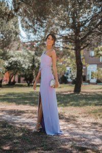 vestido lila invitada boda