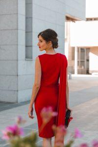 vestido capa invitada boda
