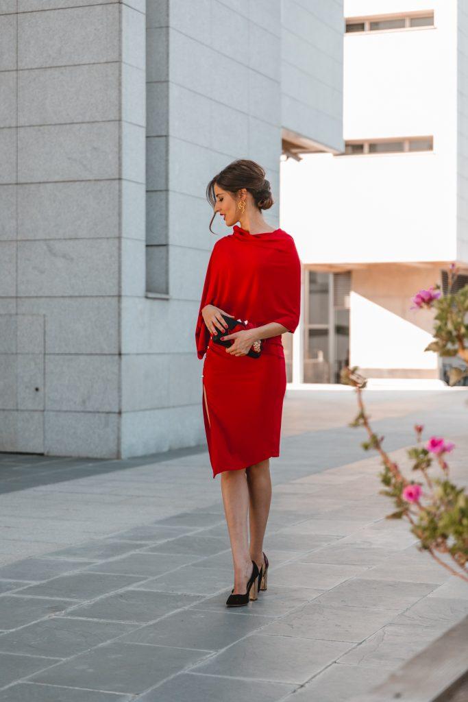 rojo capa invitada perfecta
