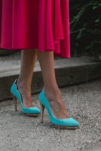 zapatos turquesa invitada perfecta