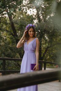 vestido largo lila invitada boda