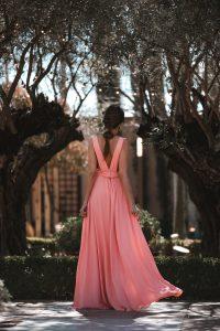 vestido espalda fiesta boda sencillo