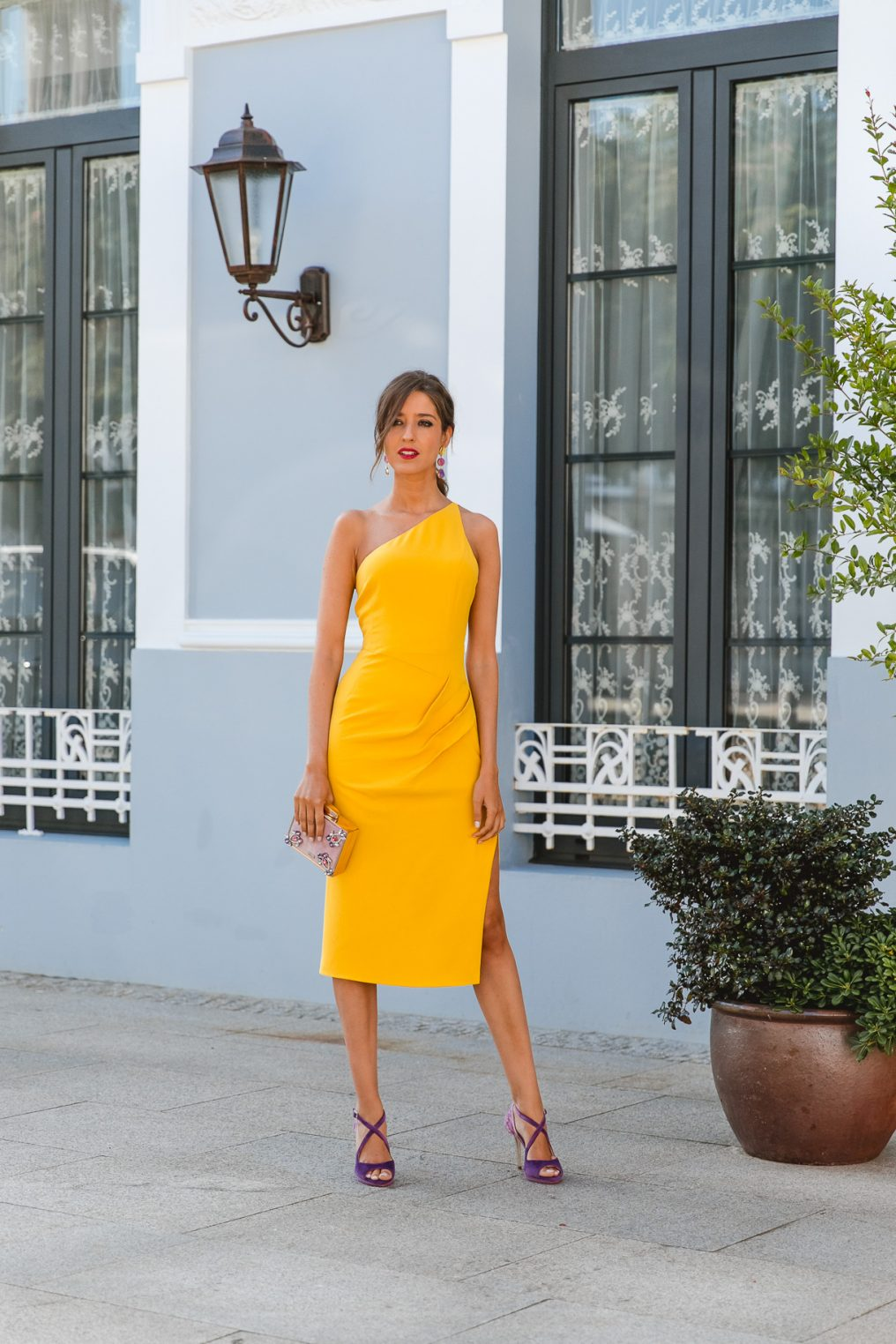 invitada perfecta comunion vestido amarillo