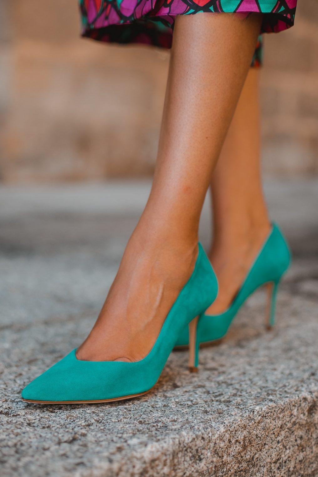 zapatos esmeralda invitada