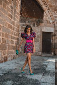 invitada perfecta vestido mini estampado