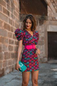 vestido mini estampado bgo and me