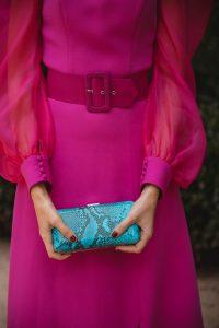 bolso turquesa fiesta invitada