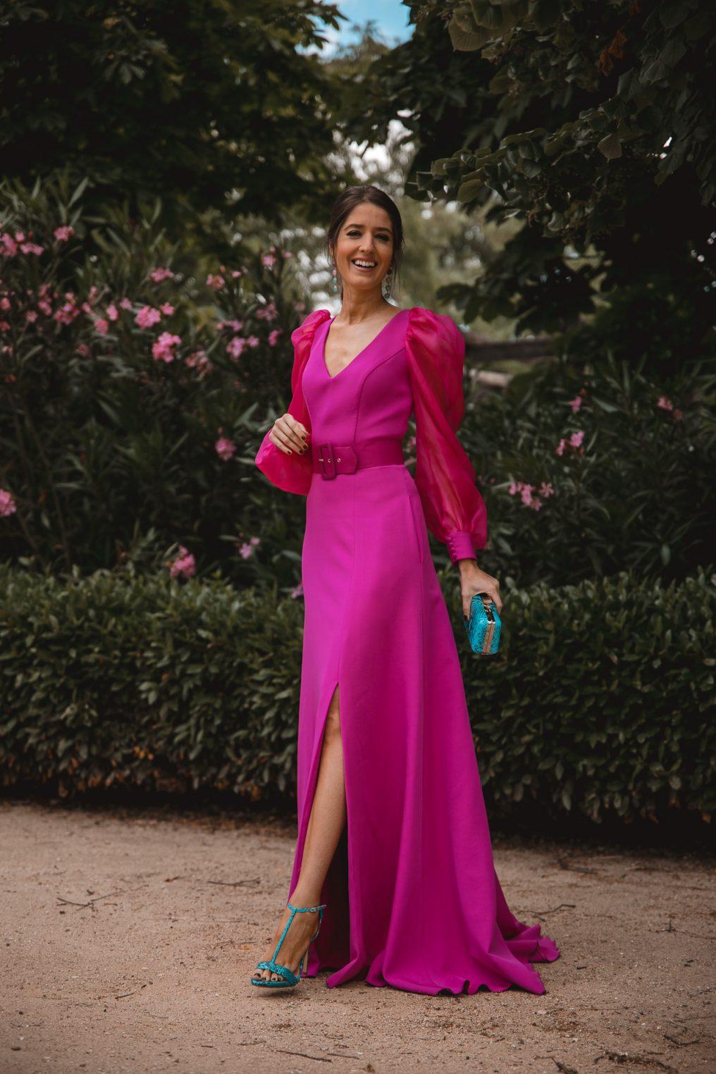 invitada perfecta vestido fucsia largo