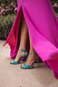 sandalias turquesa invitada boda