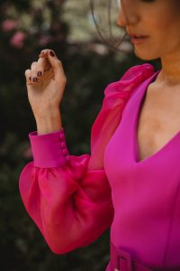 vestido invitada botones