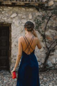 invitada perfecta vestido azul marino