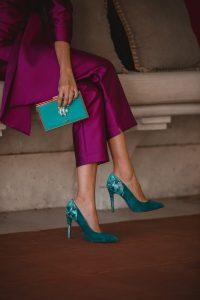 zapatos turquesa invitada boda