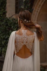 vestido novia medieval mangas