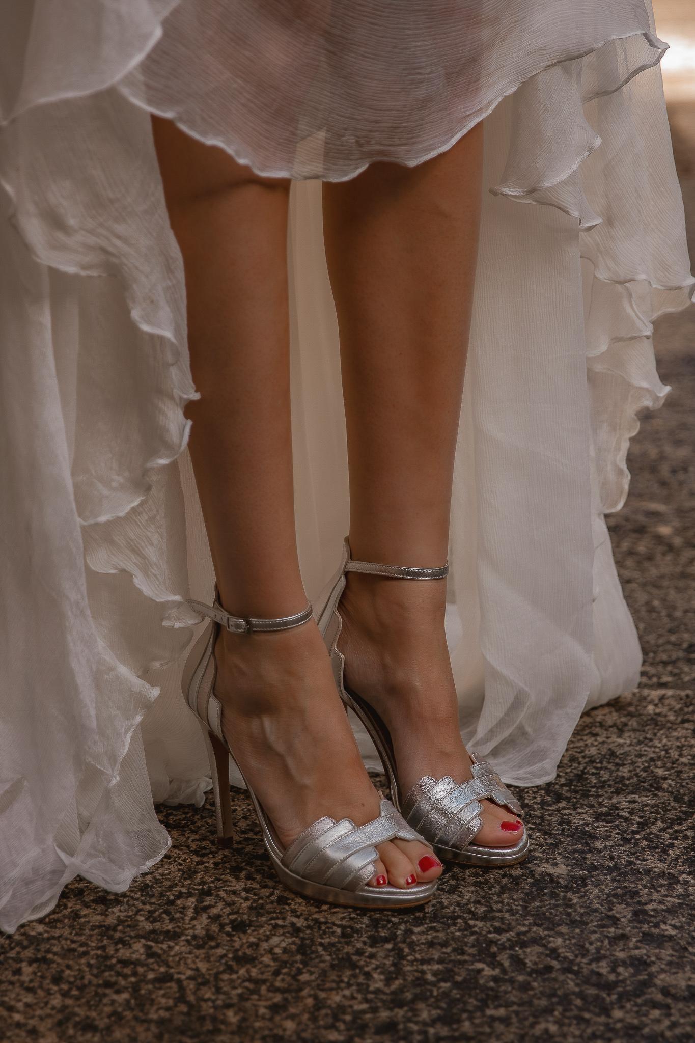 zapato plata novia
