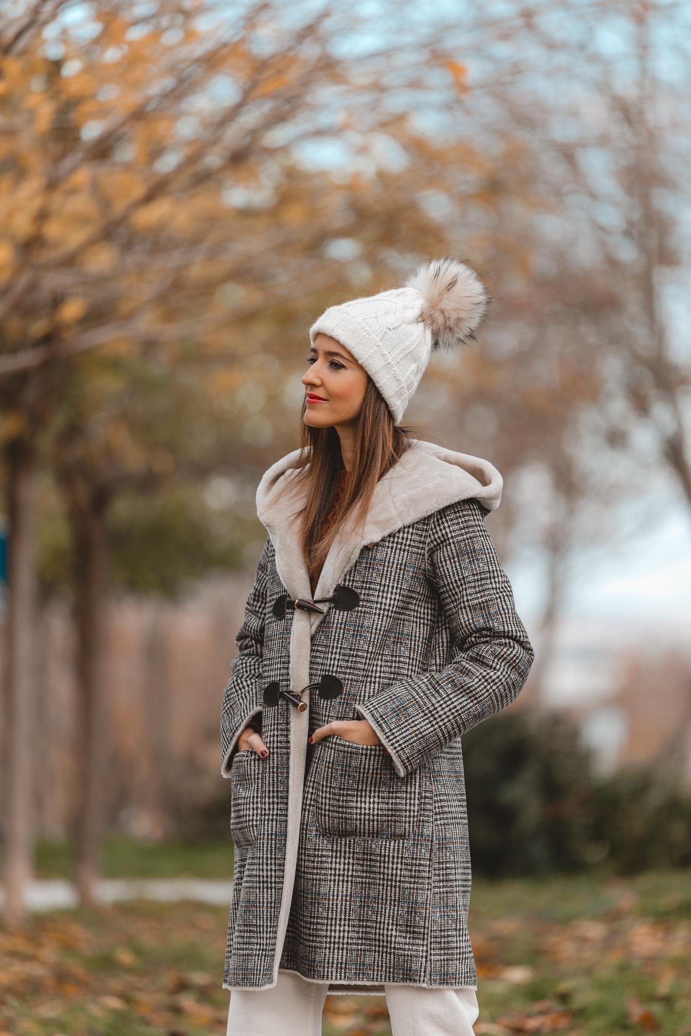 abrigo cuadros invitada perfecta