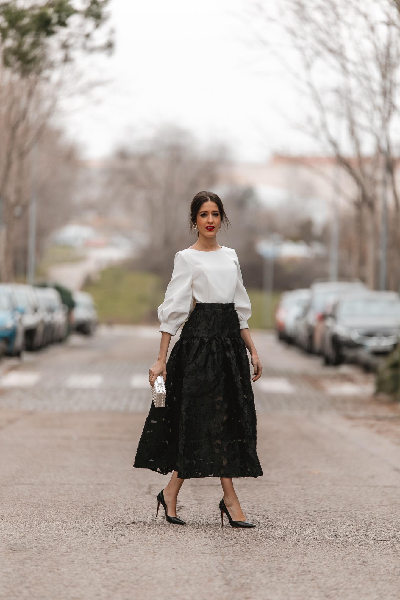 invitada perfecta falda encaje