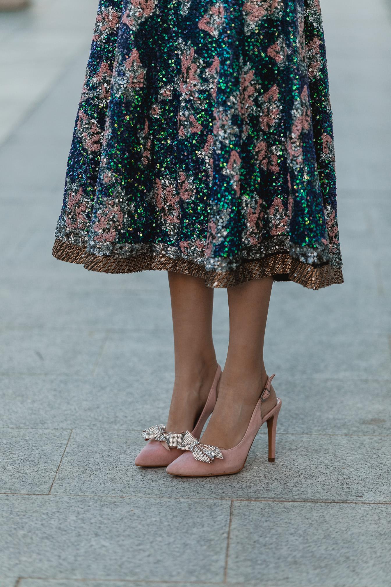 zapatos rosas lazo invitada perfecta