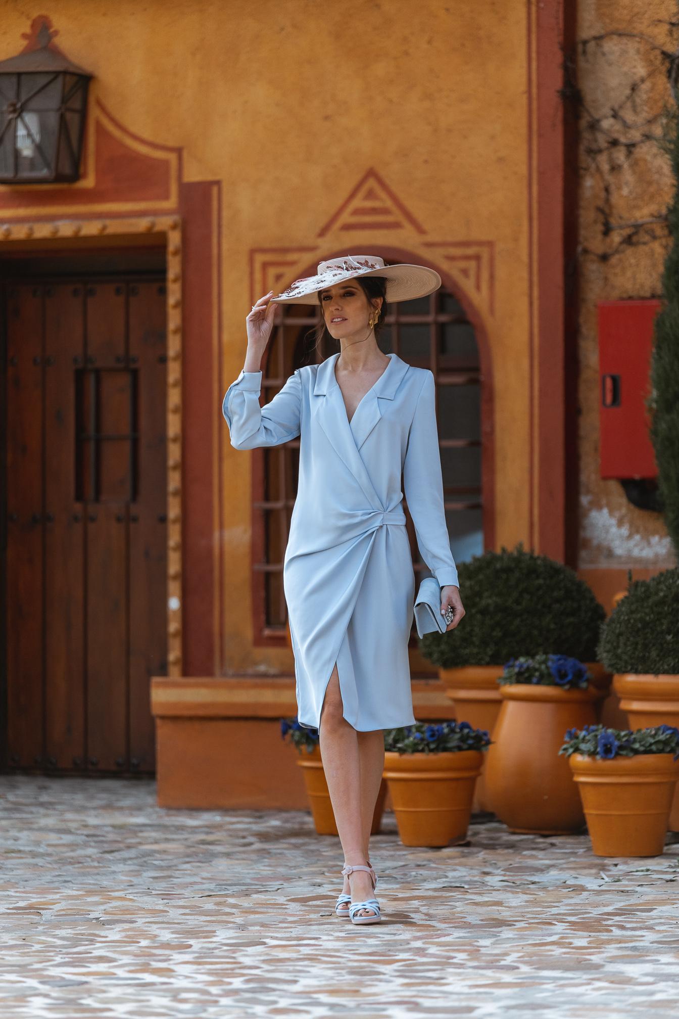 vestido azul invitada perfecta boda pamela