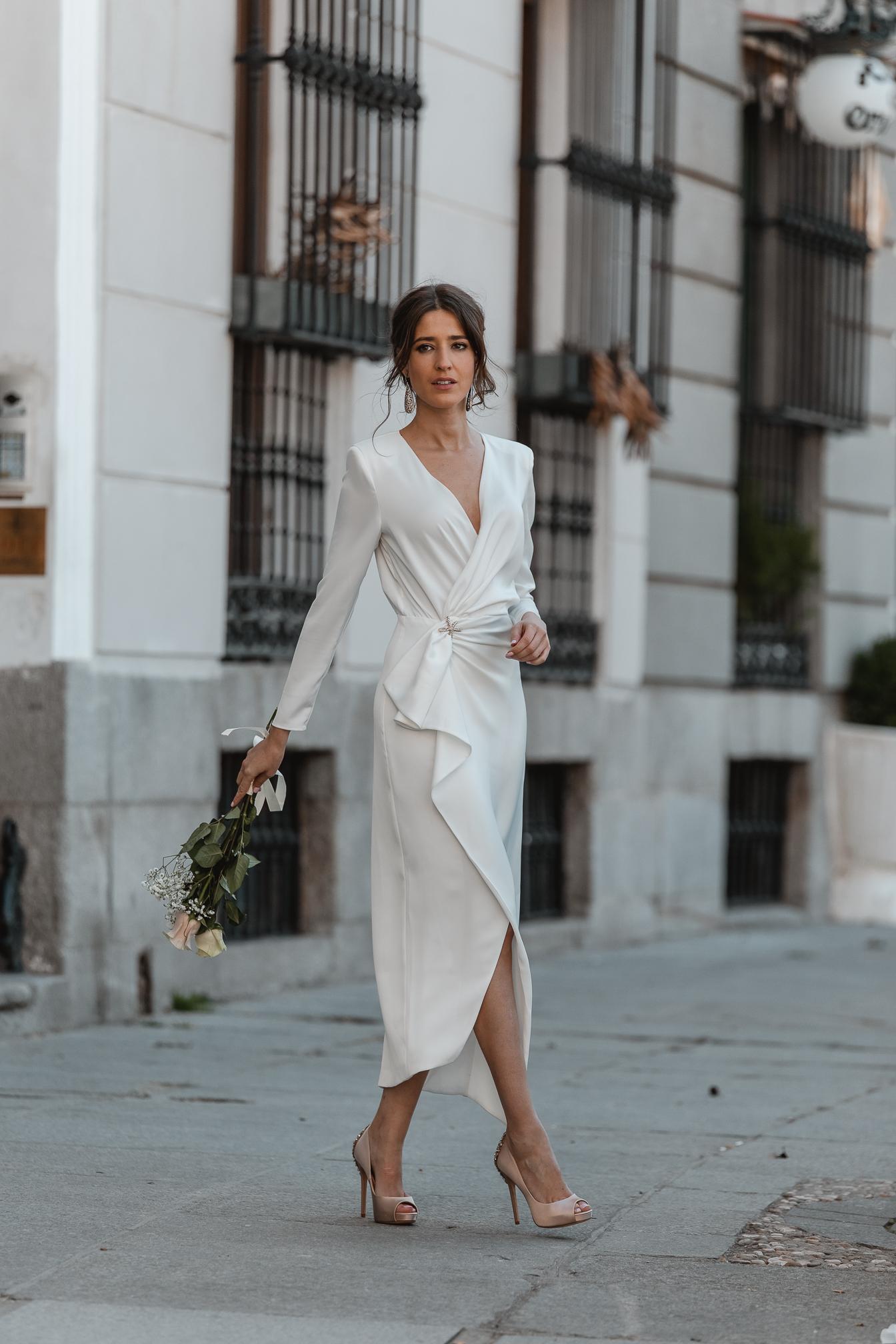vestido blanco novia civil lowcost