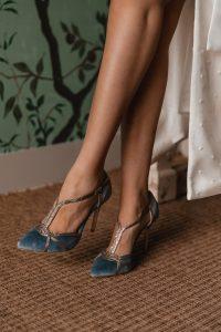 zapatos novia azul invitada perfecta