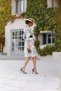 vestido blanco estampado pamela invitada perfecta