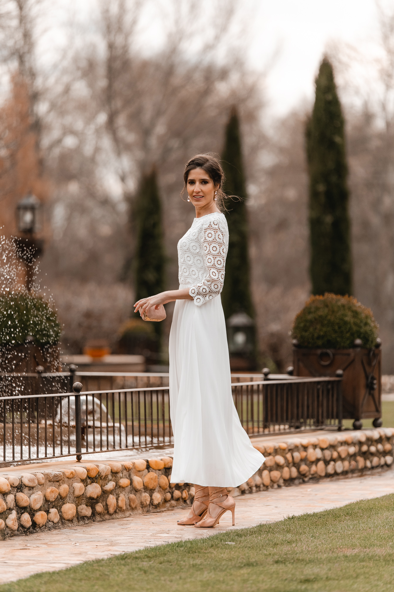 mama comunion bautizo vestido blanco
