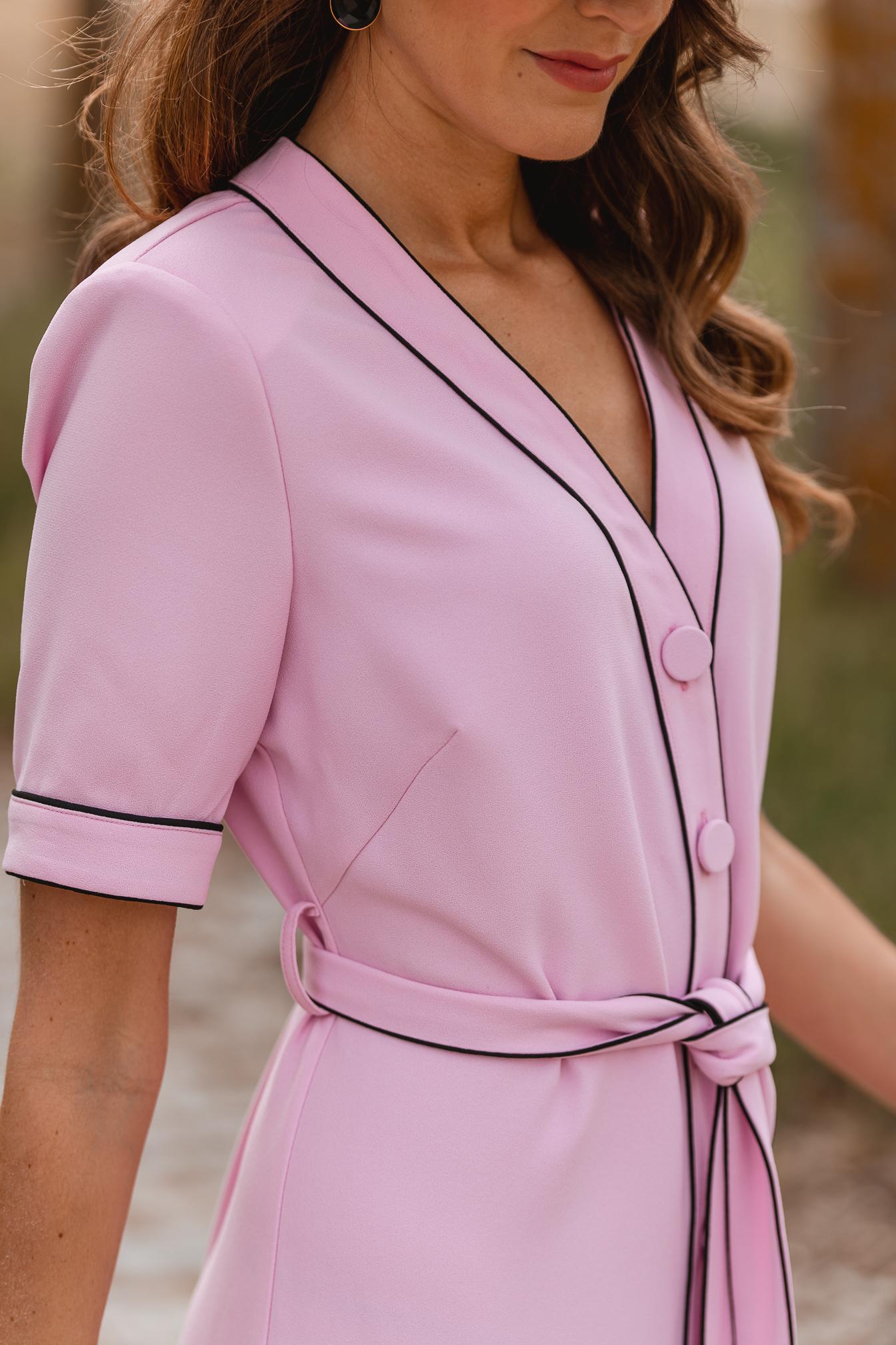 vestido rosa midi lady pipa