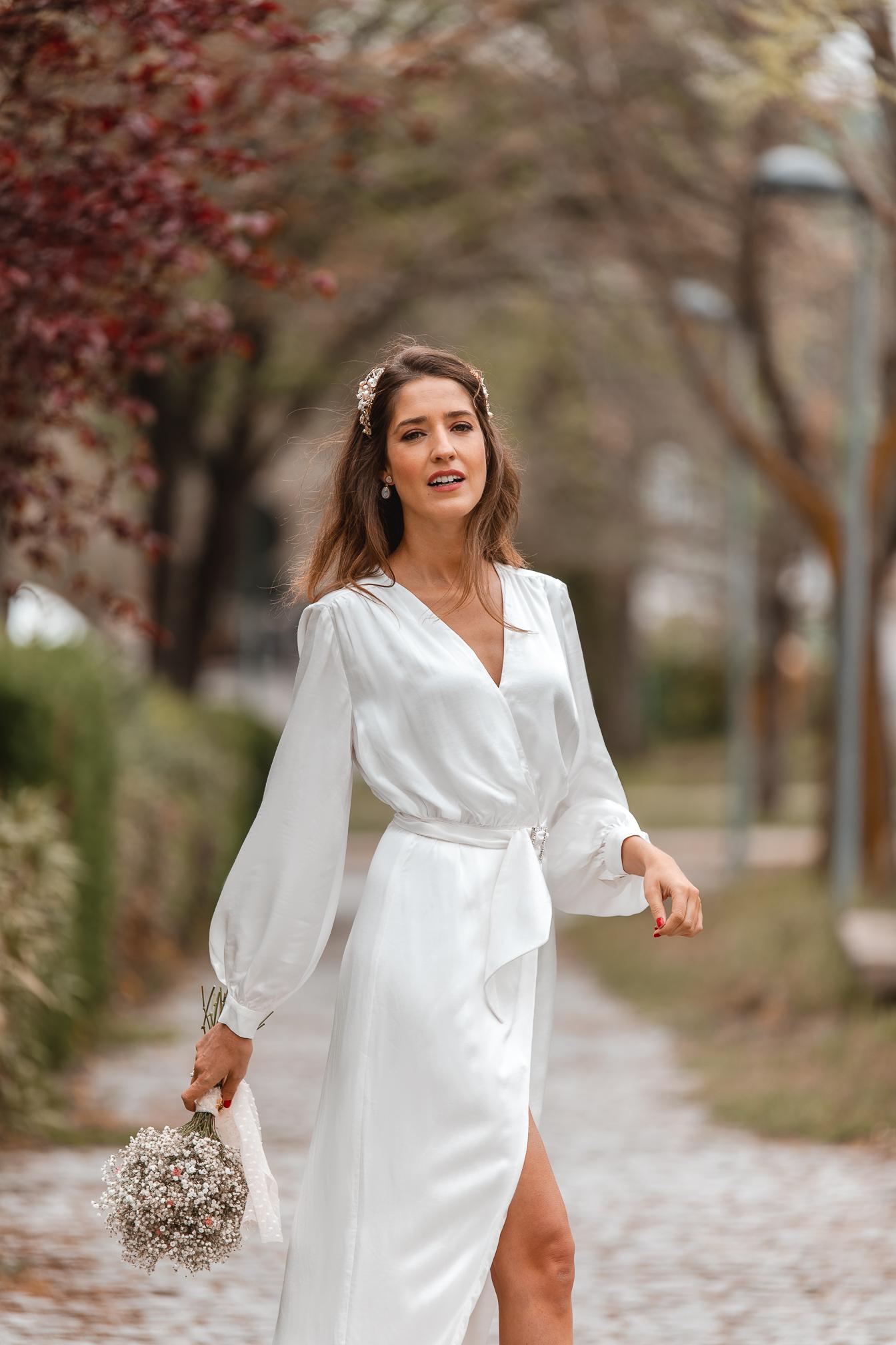 vestido blanco novia civil