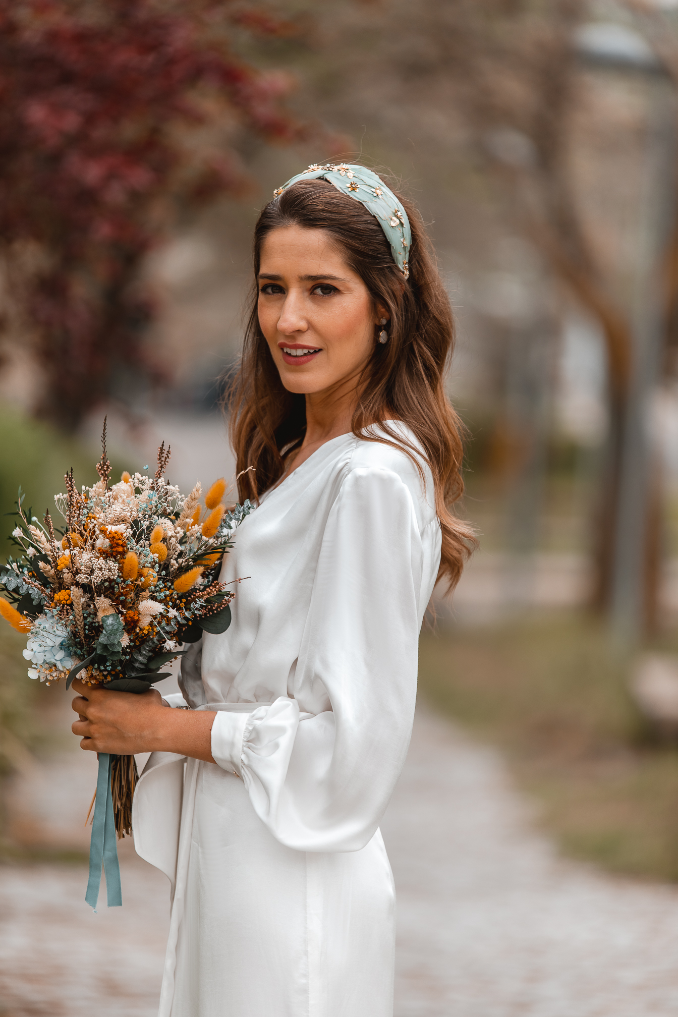 turbante diadema novia
