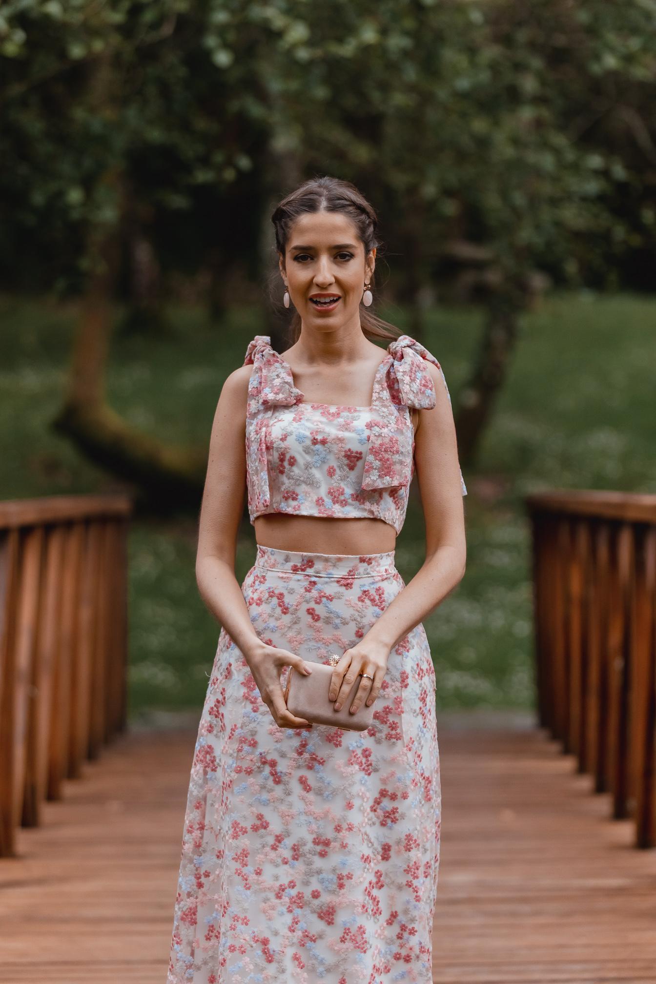 look falda larga invitada boda