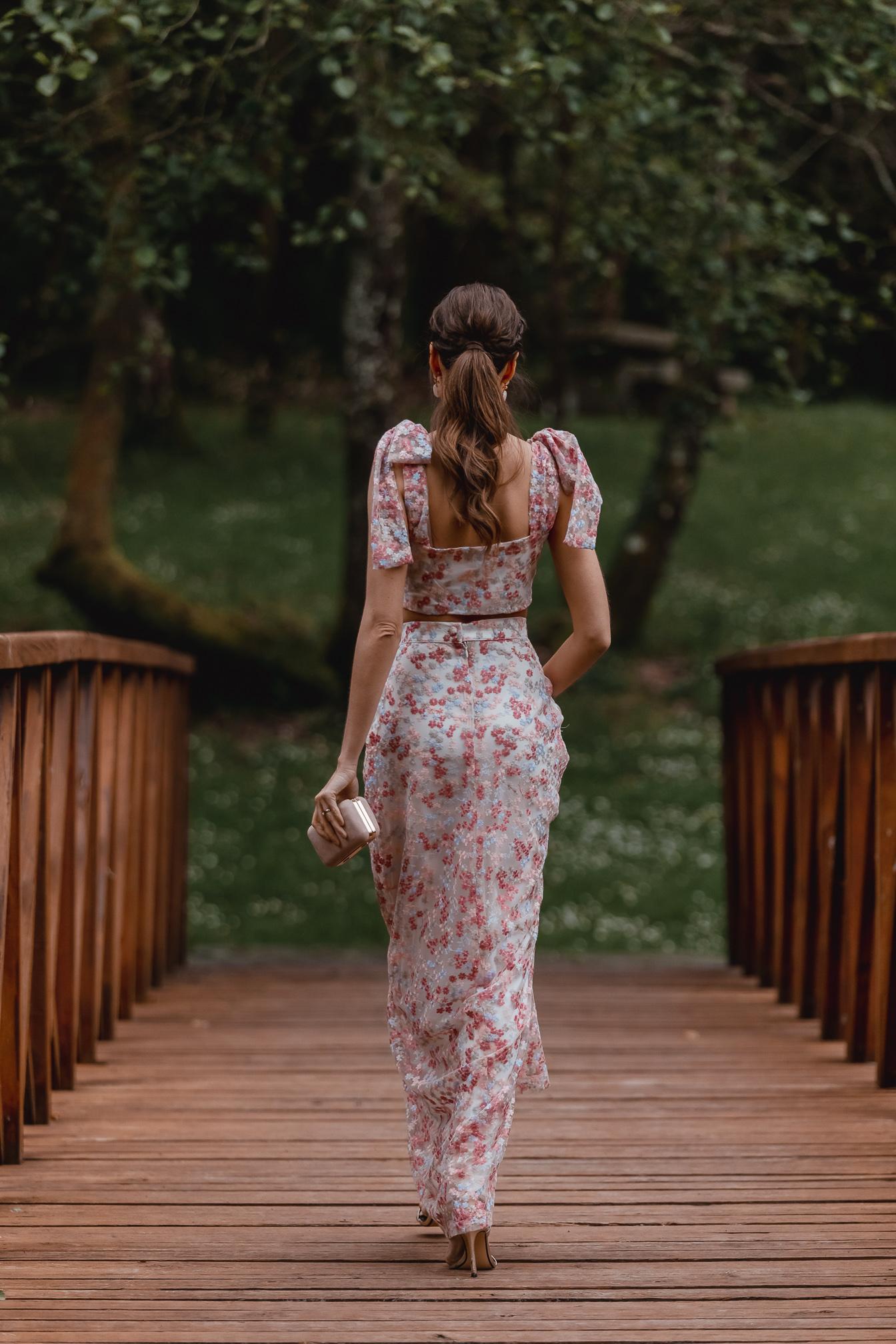 conjunto falda top boda