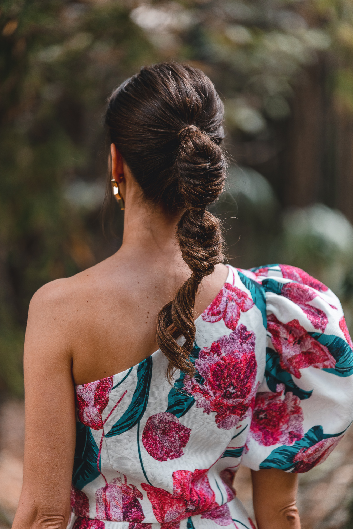 peinado coleta trenza invitada novia