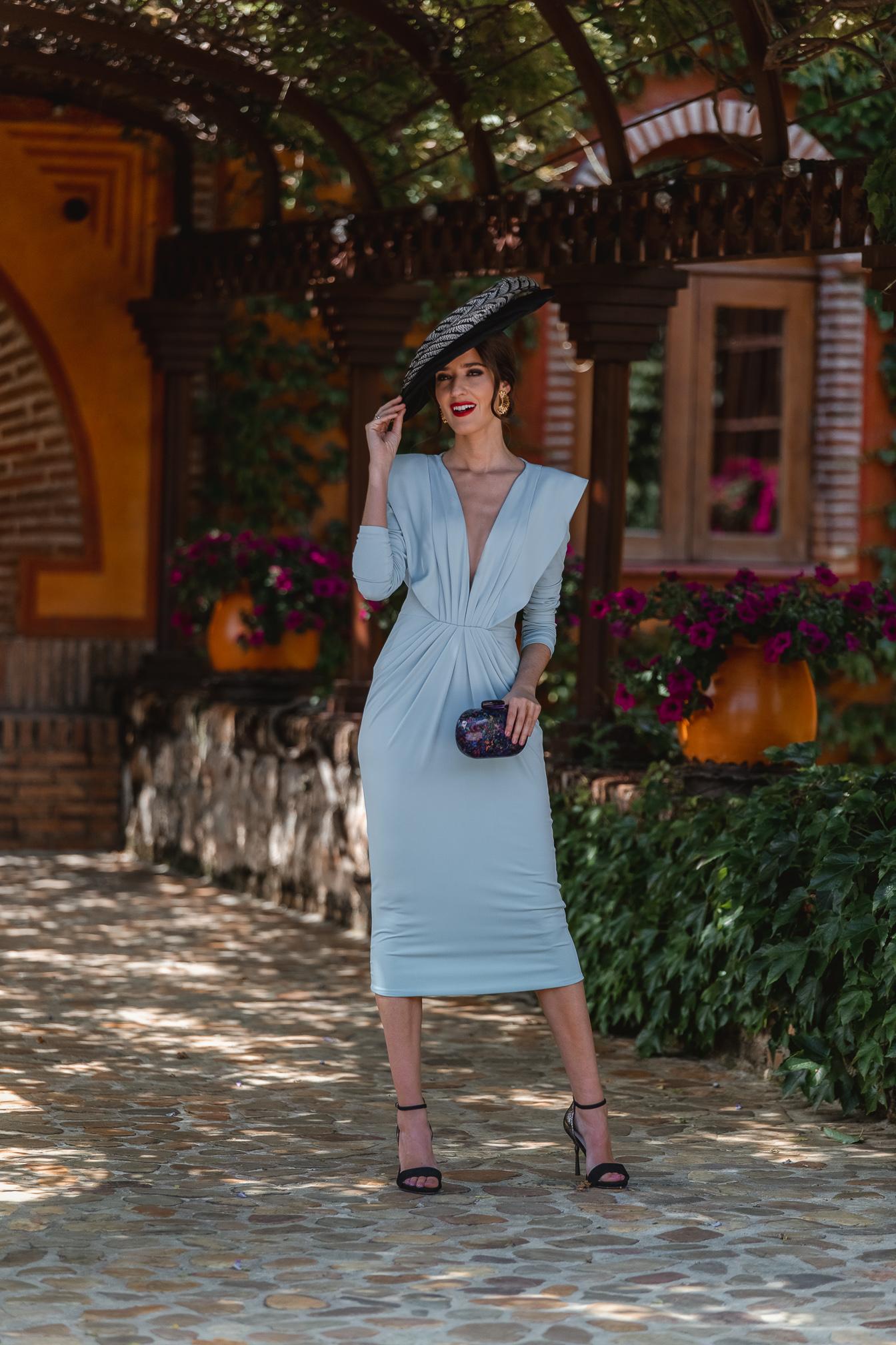 invitada perfecta vestido azul pamela