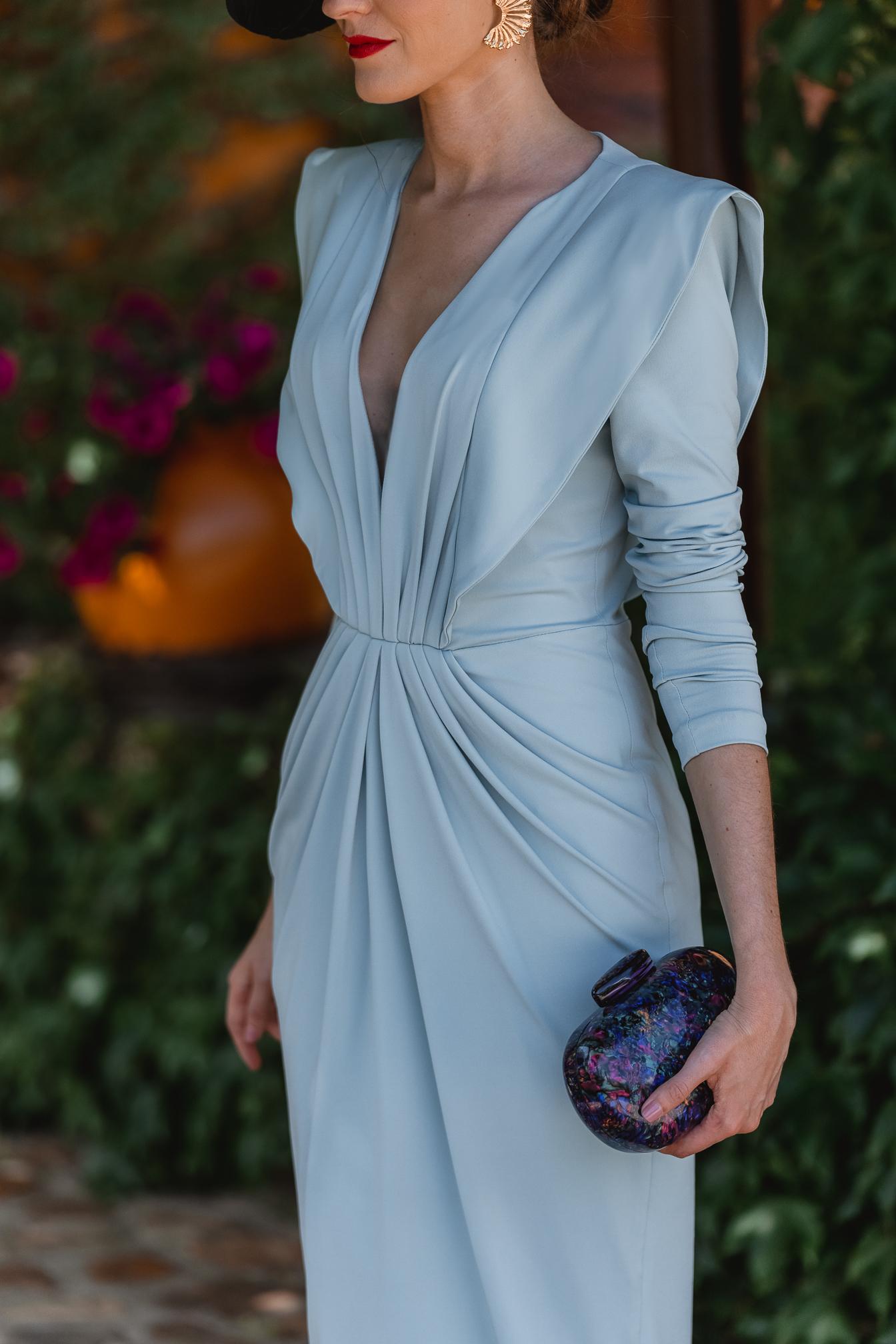 vestido azul mama comunion