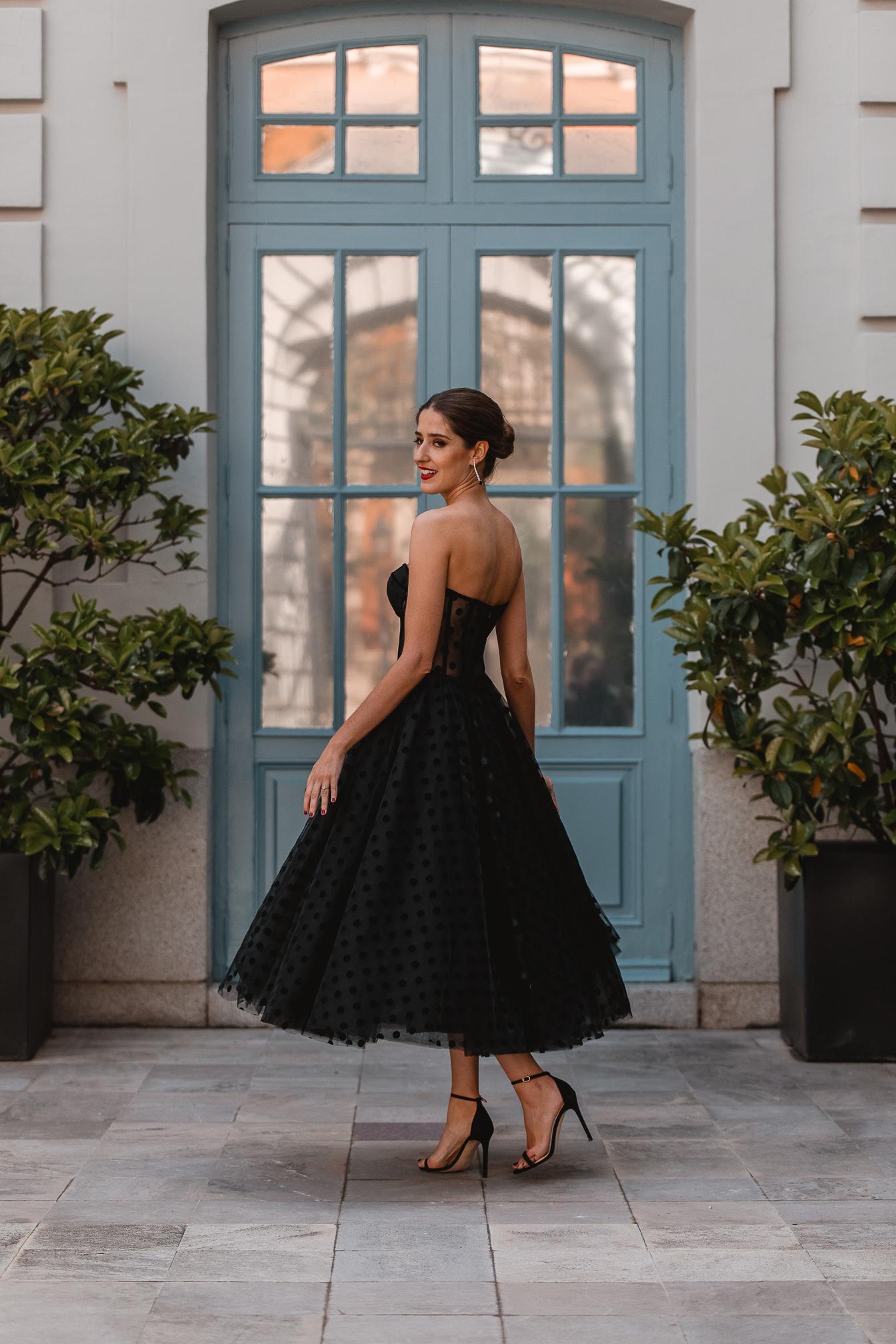 invitada perfecta vestido negro falda tul