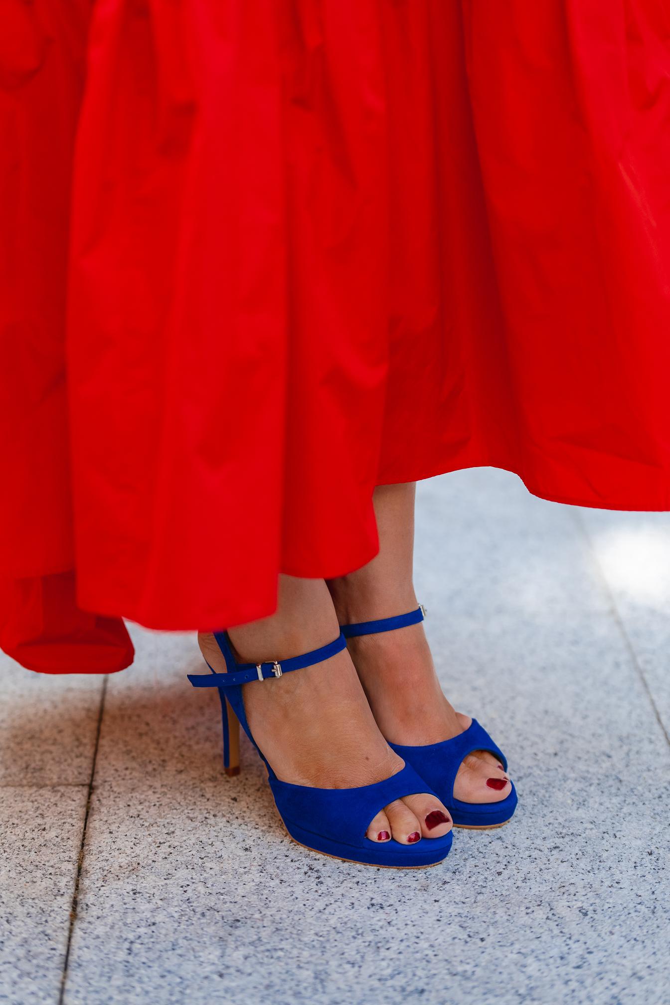 sandalias azul klein invitada