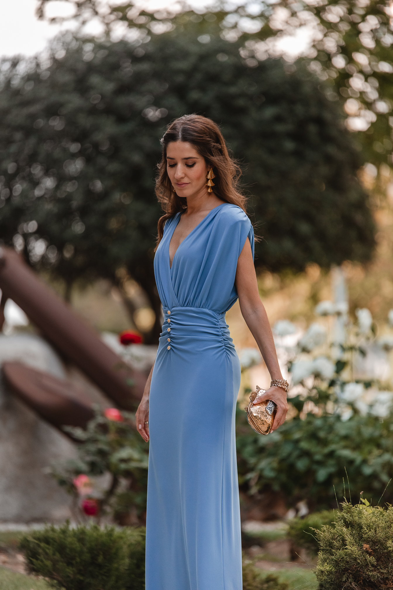 invitada perfecta vestido largo azul lowcost