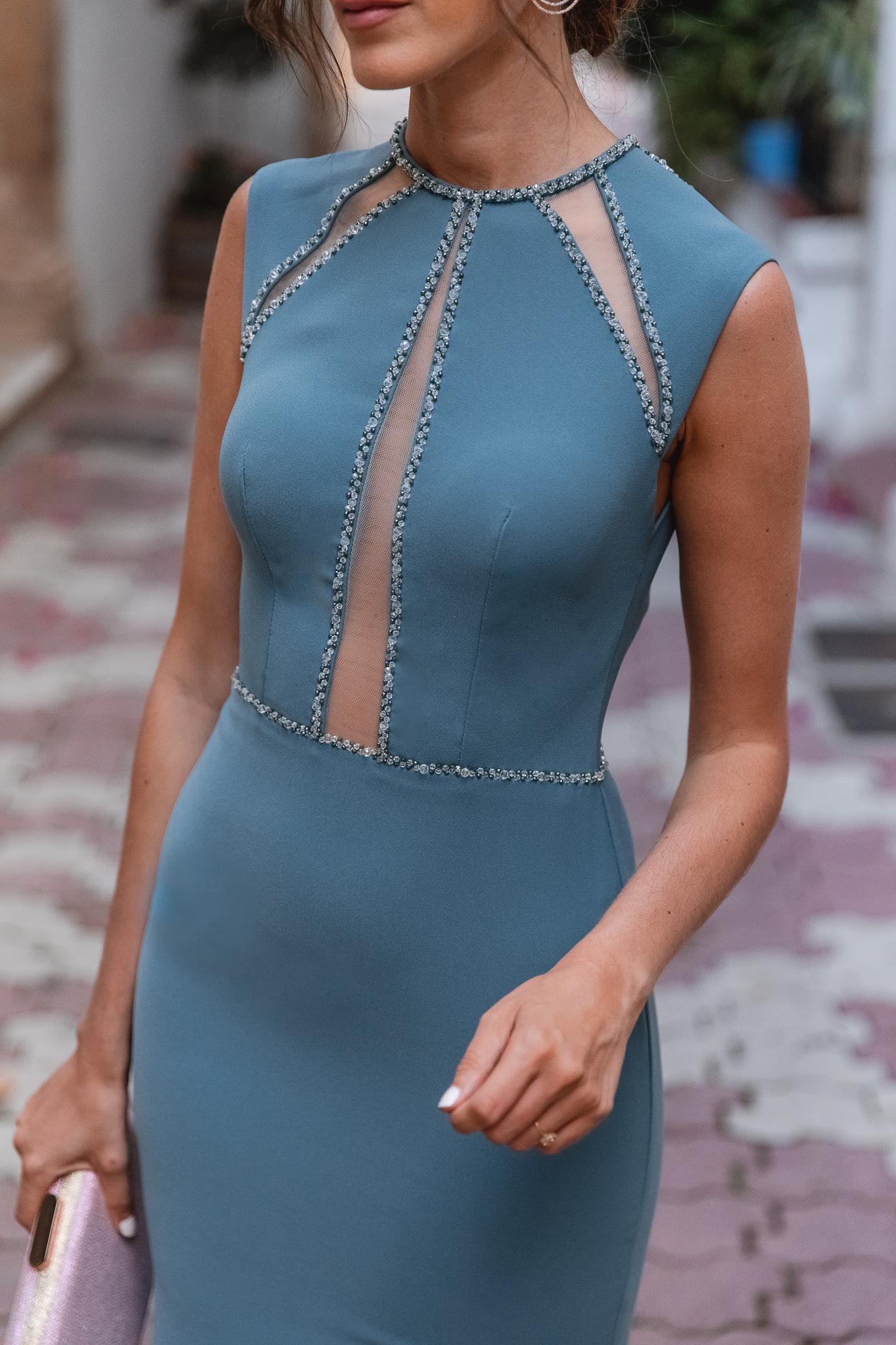 vestido transparencias invitada