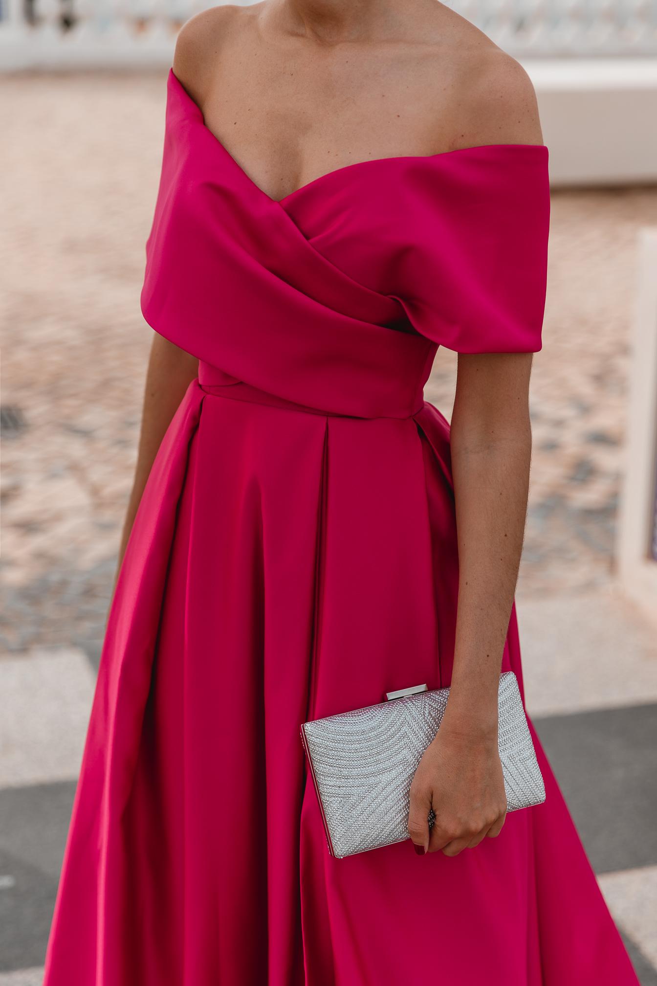 vestido escote bardot