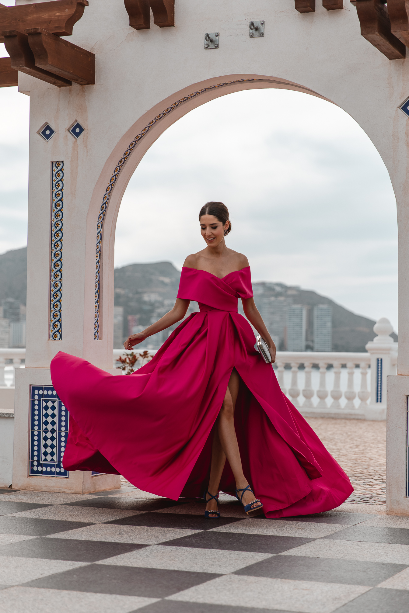 vestido fucisa largo invitada boda