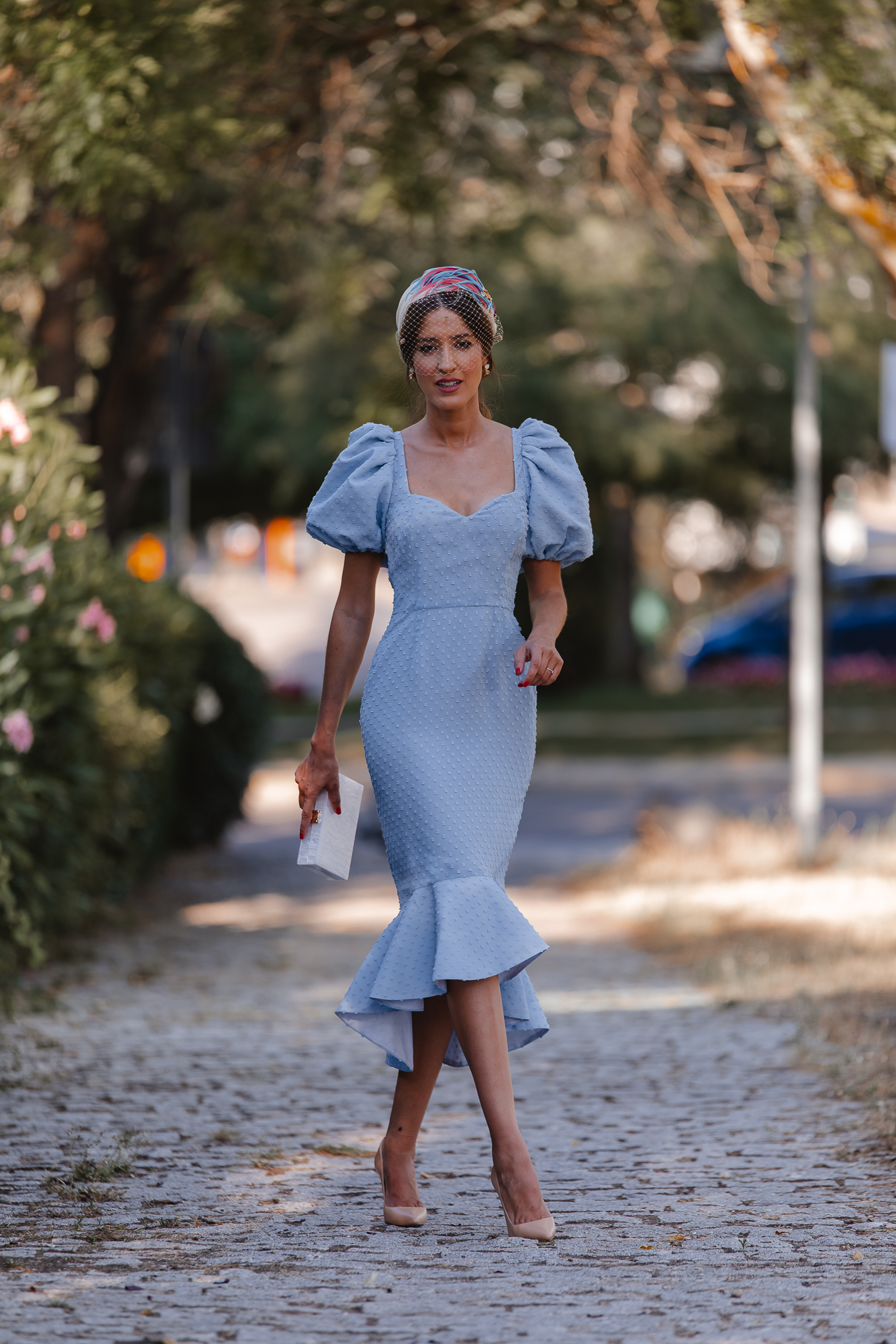 invitada perfecta vestido plumeti azul